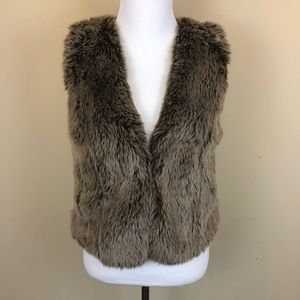 Madewell Brown Faux Fur Vest